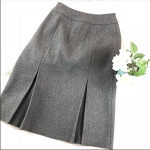 Miu Miu Gray Pleated Wool Midi Skirt 38 4